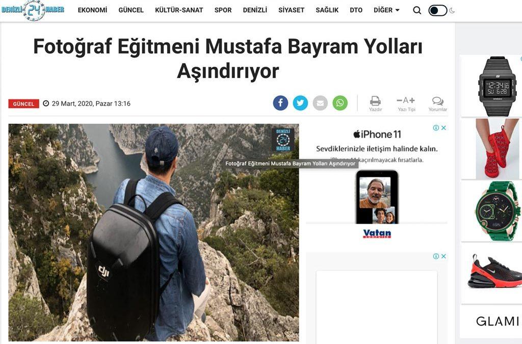 Fotoğraf Eğitmeni Mustafa Bayram Yolları Aşındırıyor