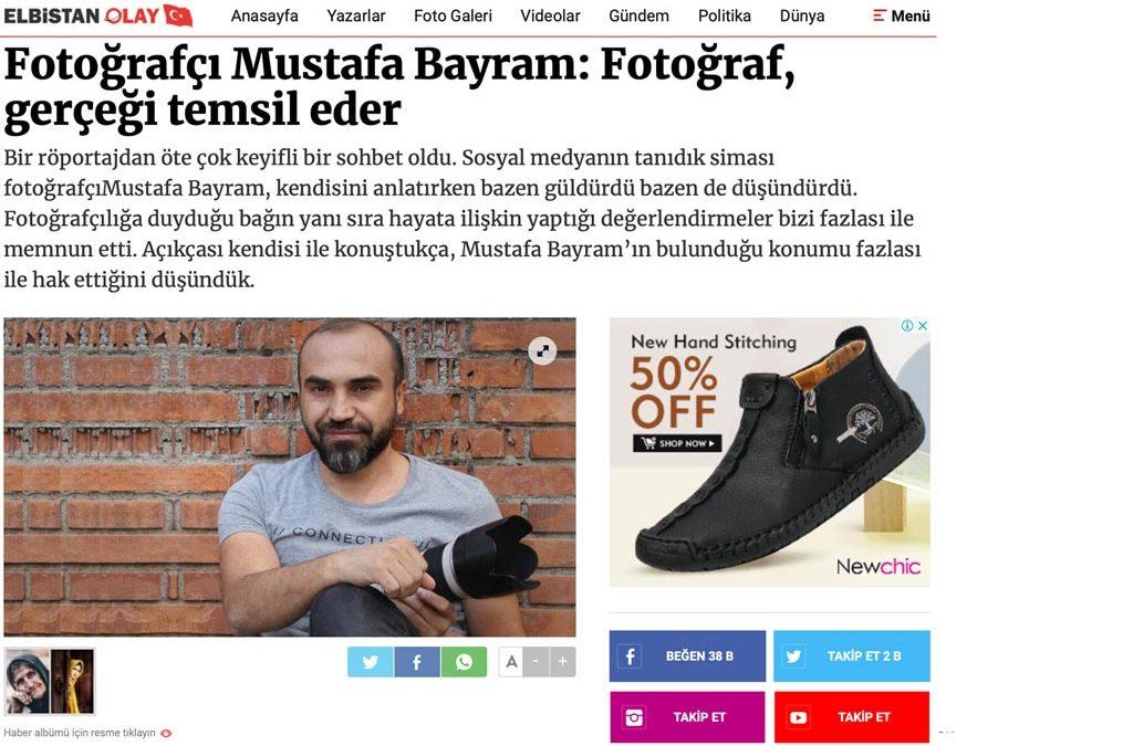Fotoğrafçı Mustafa Bayram Fotoğraf gerçeği temsil eder
